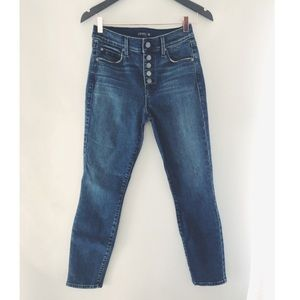 Anthropologie Level 99 skinny jeans w/button front